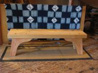 Spruce bench with natural fir knees
